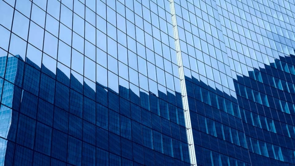 Glass Curtain Wall on a Commercial Building