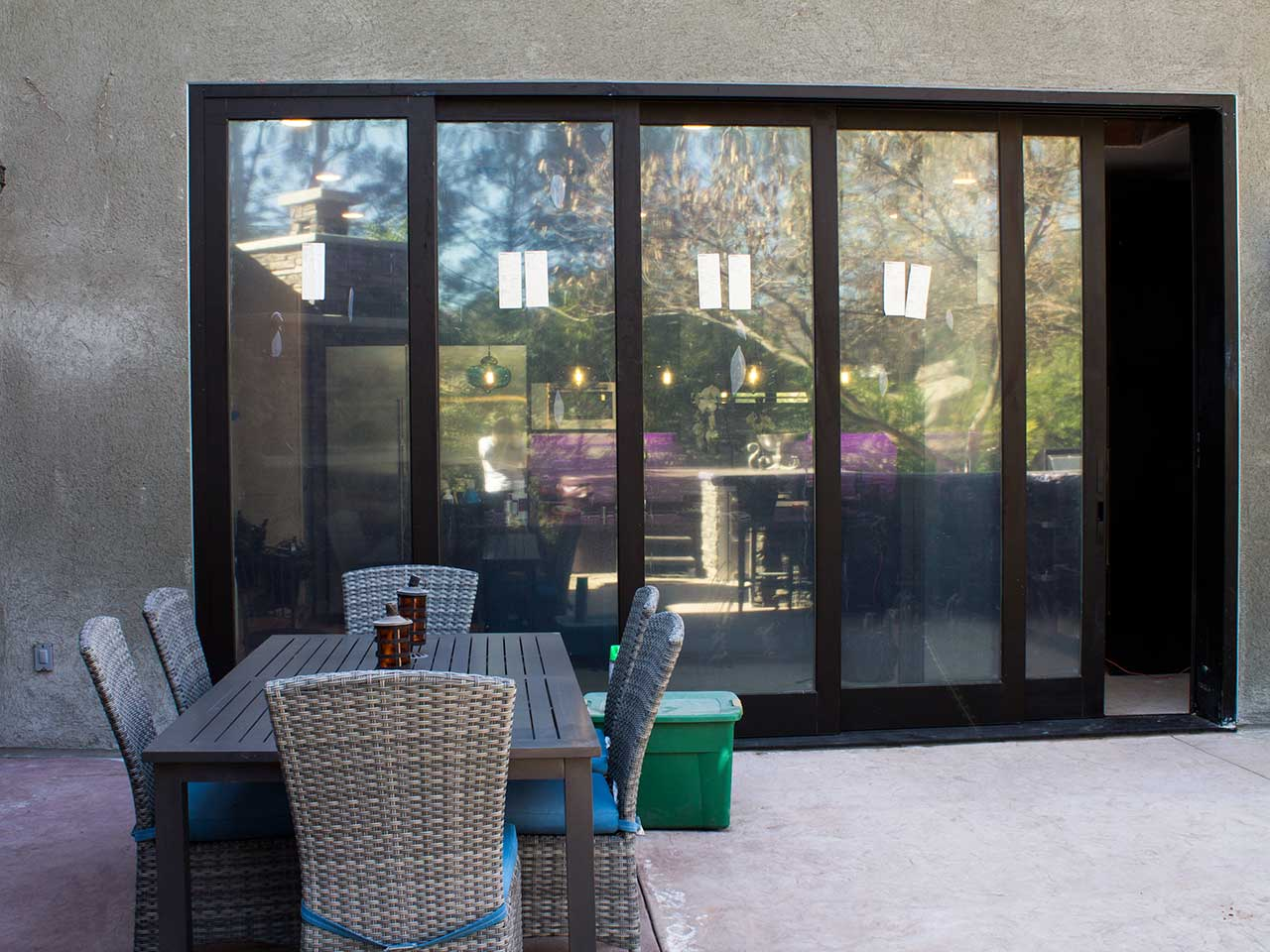 Multi sliding glass patio door system