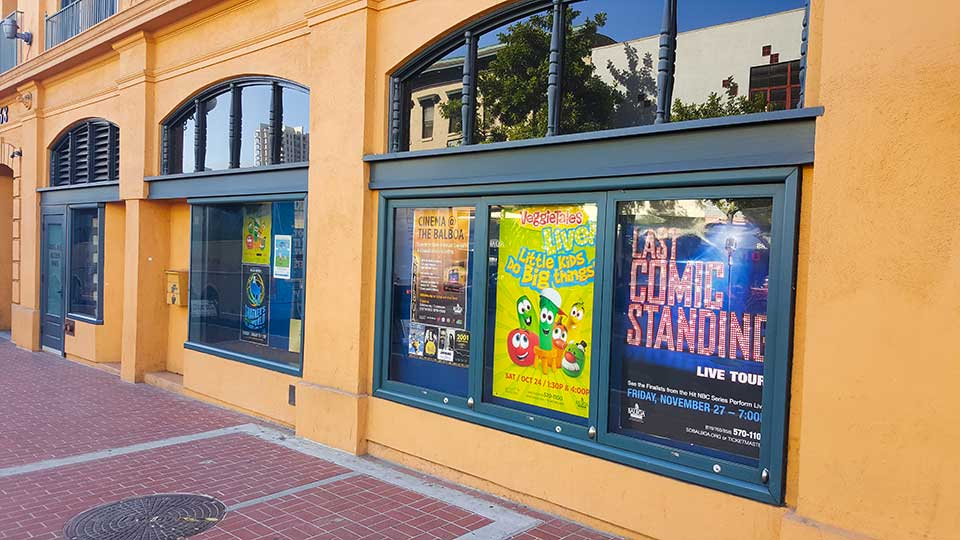 Window replacement at Balboa Theatre in San Diego, CA